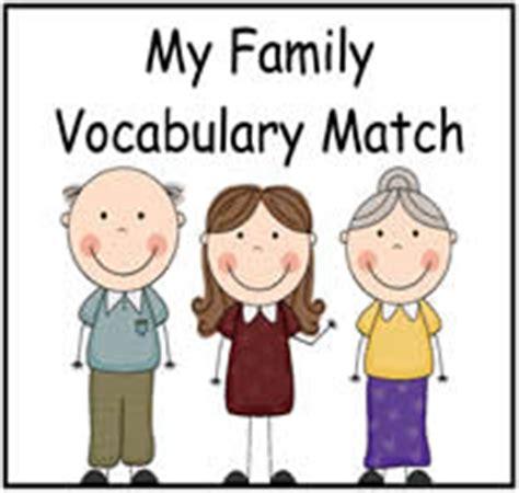 family vocabulary match file folder game  file