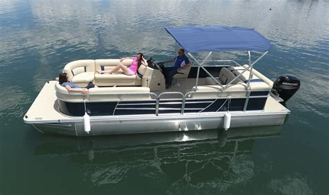 Sleeping On A Pontoon Boat by Boat Rentals Navajo Lake Marina