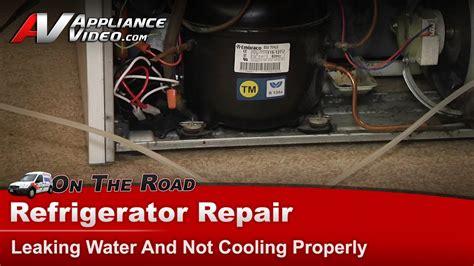 maytag refrigerator repair leaking water   cooling properly mtfgew youtube