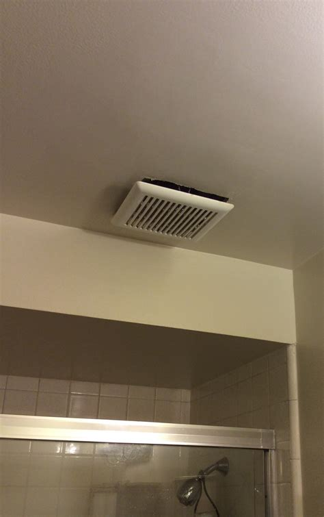 bathroom ceiling fan cover bathroom is it normal for an exhaust fan cover to hang