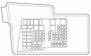 Mazda Cx-7  2010  - Fuse Box Diagram