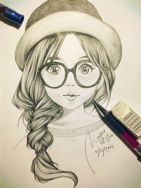 cute girl sketch art drawings pencil drawings pencil