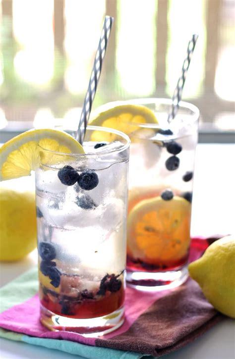 blueberry lemon smash rum cocktail honey  birch