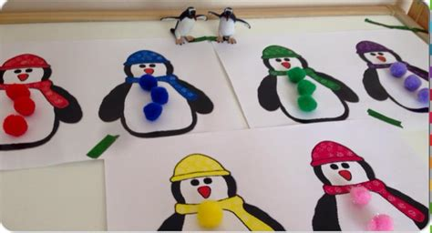 penguin color match card activity  kids preschool  homeschool