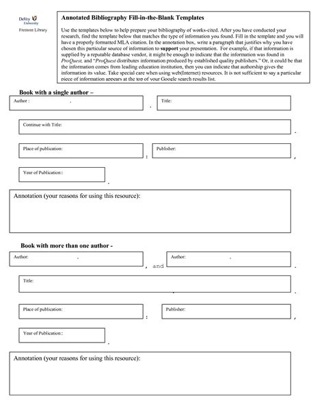 Sle Biography Template For Students by Bibliography Note Template Search Study Tips