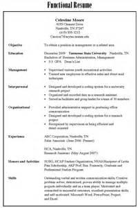 three different resume types resume sles 職涯發展暨校友中心
