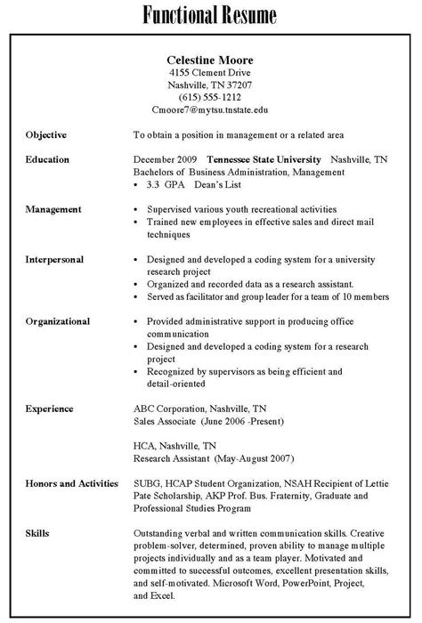 Three Kinds Of Resumes by 3 Resume Types