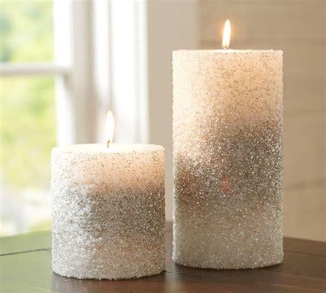 silver beaded pillar candles contemporary candles
