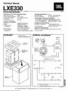 Jbl Lxe 330 Service Manual  U2014 View Online Or Download