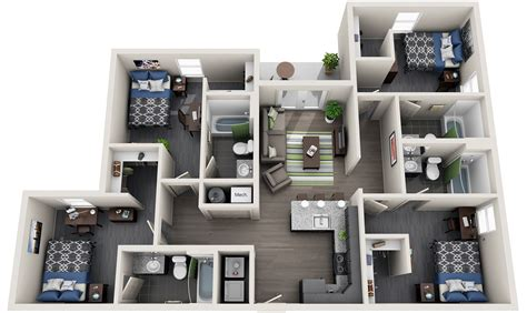 bedroom student housing  campus apartment