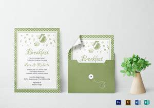 breakfast invitation designs templates  word psd