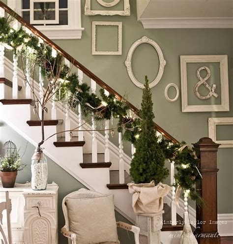 stair garland ideas a whole bunch of staircase decorating ideas style estate