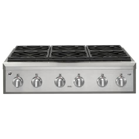 stainless steel gas cooktop shop ge cafe 6 burner gas cooktop stainless steel