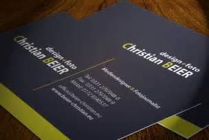 die neuen visitenkarten sind da christian beier - Visitenkarten Beispiele Design