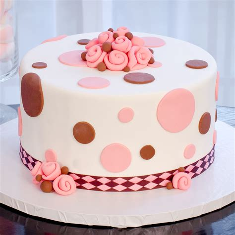Polka Dot Dreams  Fondant Or Easy Icing Cake Decorating