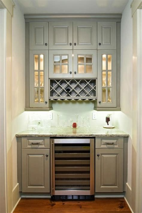 built  wine rack transitional kitchen
