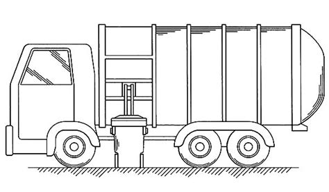garbage truck coloring page put all garbage inside truck coloring pages