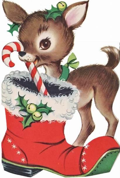 Christmas Deer Graphics Reindeer Santa Merry Card