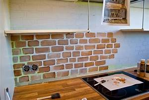 How to install brick tile backsplash cabinet hardware for Brick tiles for backsplash in kitchen