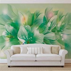 Poster Mural Nature : fleurs nature vert poster mural papier peint acheter le sur ~ Teatrodelosmanantiales.com Idées de Décoration