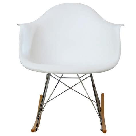 lexmod molded plastic armchair rocker in