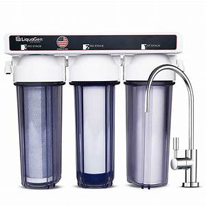 3 Stage Under Sink Drinking Water Filter System  Sediment