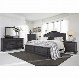 Ashley sharlowe 5 piece queen storage panel bedroom set in for Ashley furniture 5 pc bedroom sets