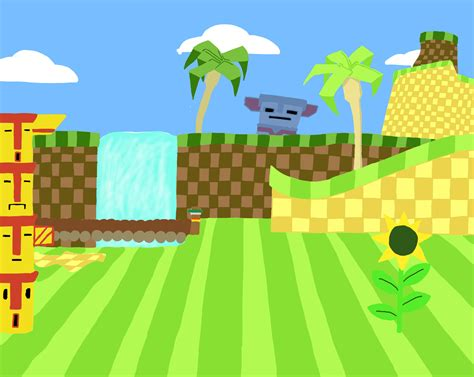 Sonic The Hedgehog Desktop Backgrounds Green Hill Zone Background By Megaartist923 On Deviantart
