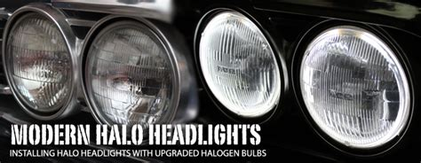 modern headlights for classic cars ground up lights the way with modern halo headlights chevy