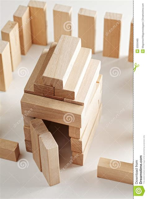 house made of blocks house made of wooden blocks royalty free stock photo image 32050485