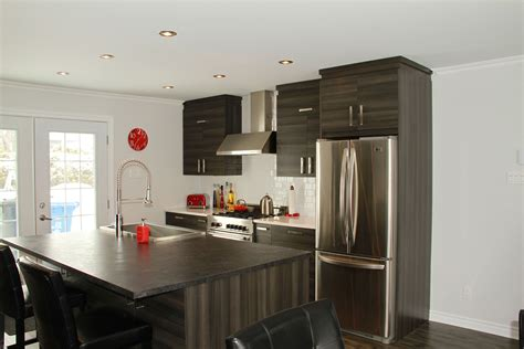 cuisine de armoires de cuisine de m 233 lamine grise