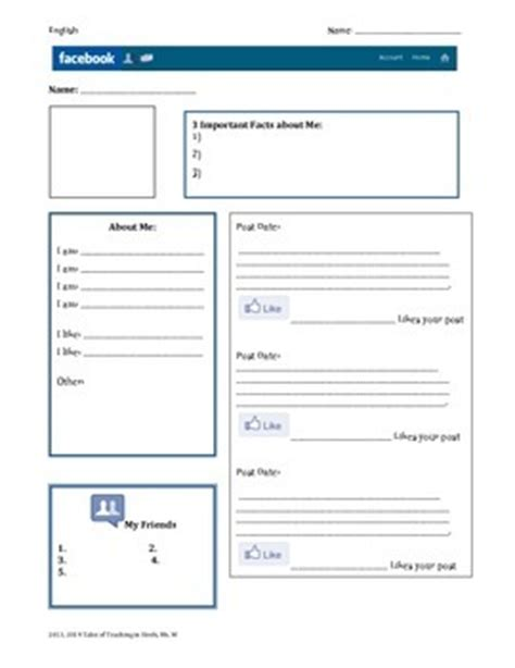 Blank Profile Template Character Profile Blank Template By
