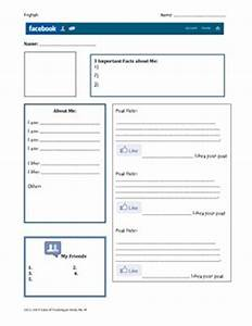 Facebook Character Profile-Blank Template by Stephanie ...