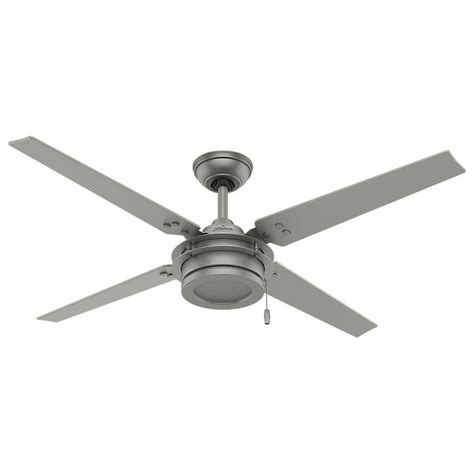 hunter 54 ceiling fan hunter gunnar 54 in indoor outdoor matte silver ceiling