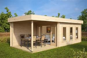 Gartenhaus 3 X 3 M : modernes gartenhaus mit terrasse jacob e 12m 44mm 3x7 hansagarten24 ~ Whattoseeinmadrid.com Haus und Dekorationen