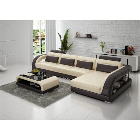 canape d angle destockage canapé d 39 angle en cuir pleine fleur enzo pop design fr