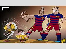 CARTOON Suarez & Neymar Liga's jewels Goalcom