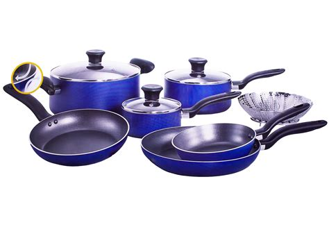 tefal 10 blue cookware set a820sa84 newappliances