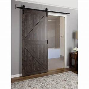 erias home designs continental mdf engineered wood 1 panel With 60 inch wide barn door