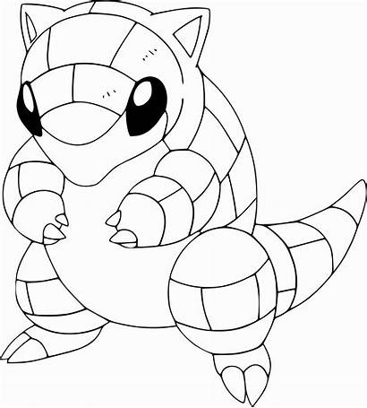 Coloring Sandshrew Squirtle Pokemon Pages Shrew Sheets