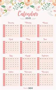 Free one page printable wall calendar design template