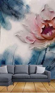 Beibehang Exclusive BRZ1603 Beautiful Abstract Art Lotus ...