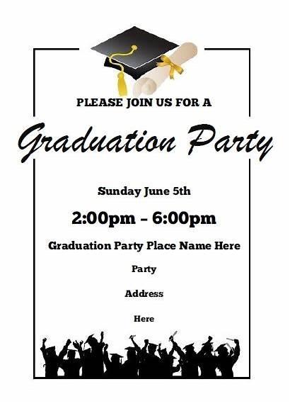 Graduation Invitations Party Printable Template Word Allfreeprintable