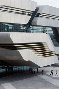 Zaha Hadid Concrete Buildings