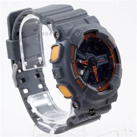 jam tangan dw best gambar jam tangan g shock ga110ts 1a4 abu abu orange ori