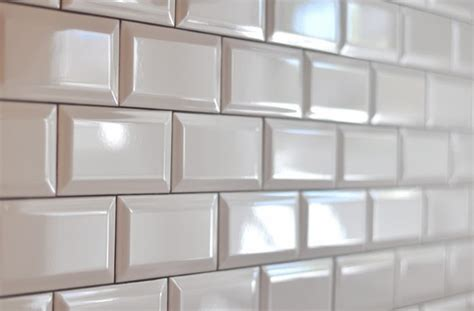 white beveled tile encaustic tile sue at home