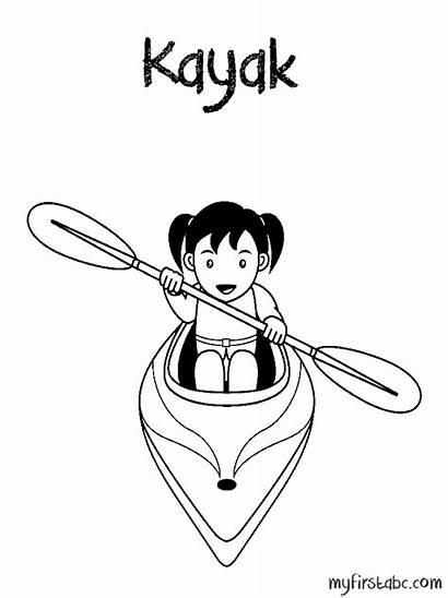 Kayak Coloring Printable Pages Getcolorings
