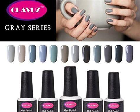 Clavuz Gel Nail Polish 12pcs Gray Nail Polish Kit Soak Off