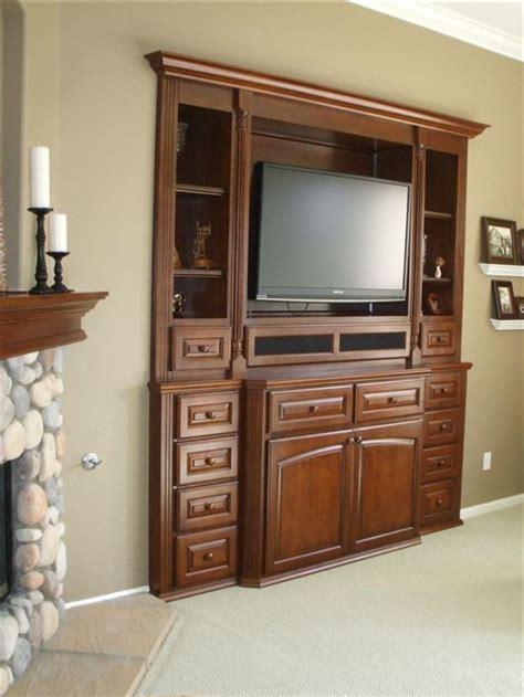 flat screen tv built  wall unit   design