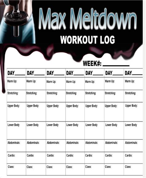 blank workout sheet samples  ms word